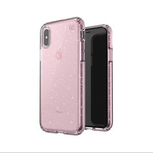 Speck Presidio ClearGlitter Pink Case iPhone X/XS